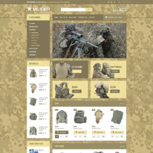 Military Responsive OpenCart Template