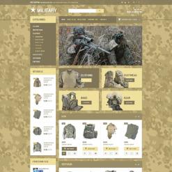 Military Responsive OpenCart Template