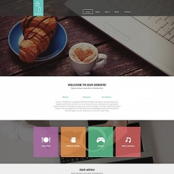 Cafe Moto CMS HTML Template