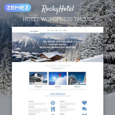 Hotels Responsive WordPress Theme #54792
