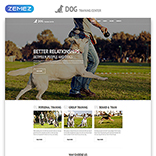 Kennel Club Website Template #54816