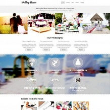 Wedding Planner Responsive Moto CMS 3 Template