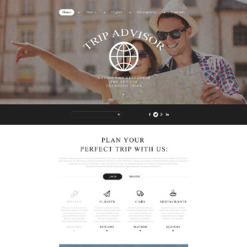 Travel Guide Responsive Website Template