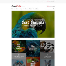 Pet Shop Responsive VirtueMart Template