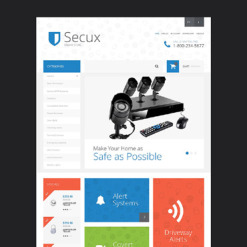 Security Responsive OpenCart Template