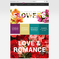 Flower Shop Responsive VirtueMart Template