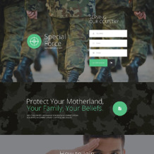 Army Responsive Landing Page Template