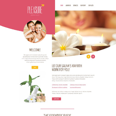 Pleasure Website Template #55244