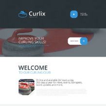 Curling Responsive Landing Page Template