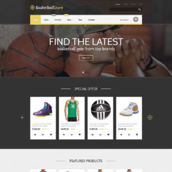 Basketball Responsive WooCommerce Theme