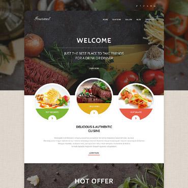 Gourmet Cuisine WordPress Theme #55376