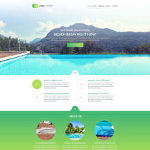 Pool Cleaning Responsive Website Template