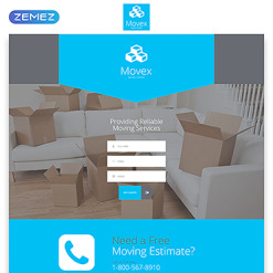 Moving Company Responsive Landing Page Template