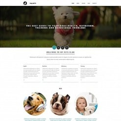 Pet Shop Responsive Moto CMS 3 Template