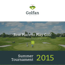 Golf Responsive Landing Page Template