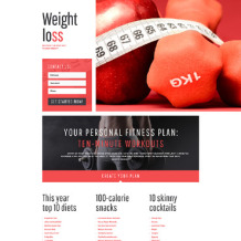 Weight Loss Responsive Landing Page Template
