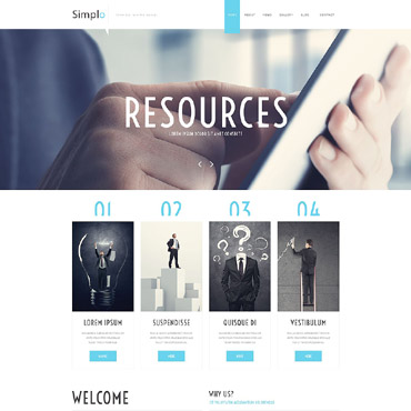 Business Responsive Website Template #55588