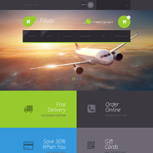 Private Airline Responsive ZenCart Template