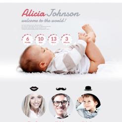 Newborn Responsive Landing Page Template