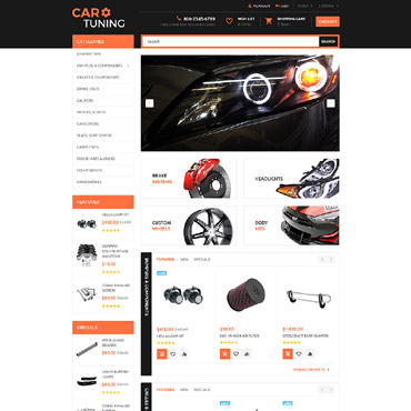 Car Tuning OpenCart Template #55728