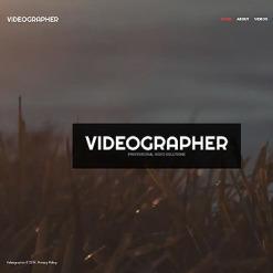 Videographer PSD Template