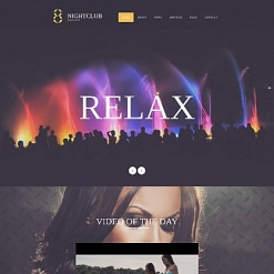 Night Club Responsive Moto CMS 3 Template
