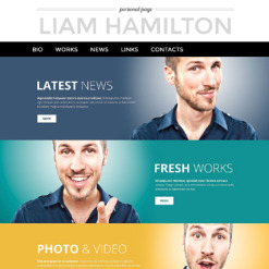 Personal Page PSD Template