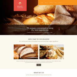 Bakery PSD Template