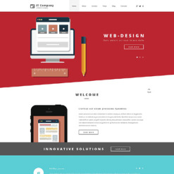 IT PSD Template