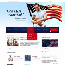 Political Party PSD Template
