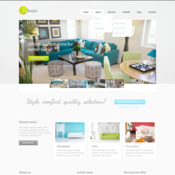 Interior & Furniture PSD Template