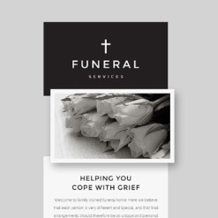 Funeral Services Responsive Newsletter Template