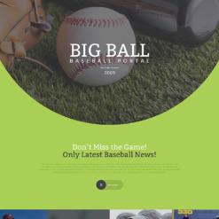 Baseball Responsive Landing Page Template