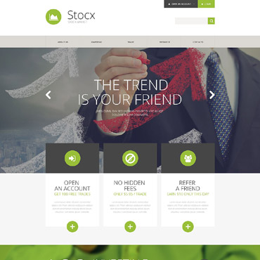 Investment Company Responsive Website Template #57632