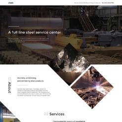 Steelworks Responsive Landing Page Template