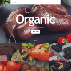 Grocery Store Responsive Website Template