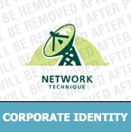 Satellite TV Corporate Identity Template