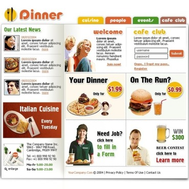 Fast Food Restaurant Website Template
