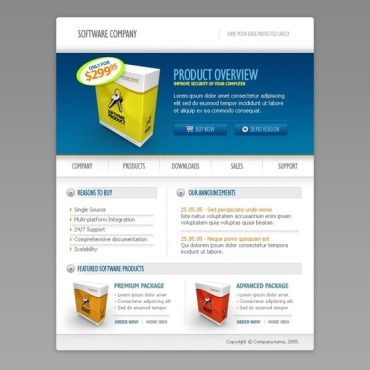 Software Company Flash Template