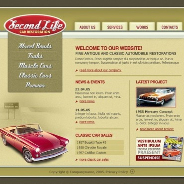 Car Repair Flash Template