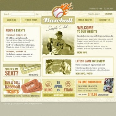 Baseball Flash Template