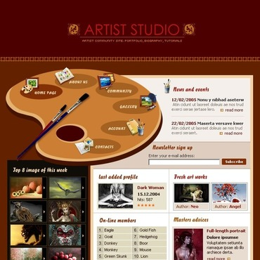 Art Studio Flash Template