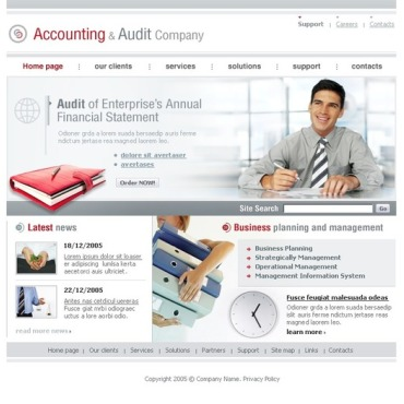 Accounting Website Website Template
