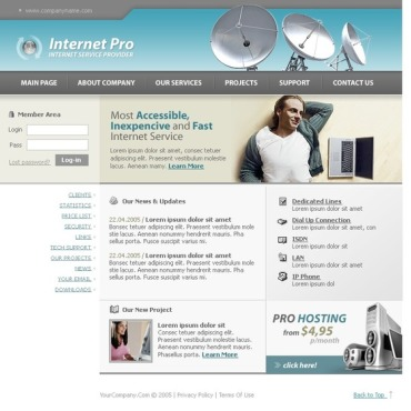 ISP Website Template