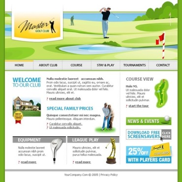 Golf Flash Template