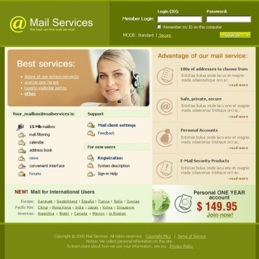 Email Services Website Template