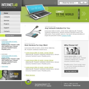 Internet Cafe Flash Template
