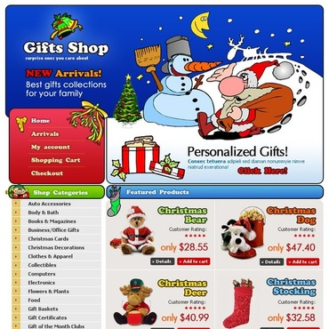 Christmas Website Template